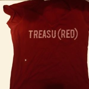 Women's red Graphic tee